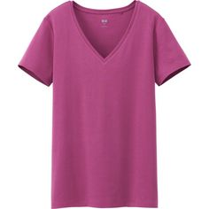 WOMEN SUPIMA COTTON V NECK SHORT SLEEVE T-SHIRT Color: 16 RED