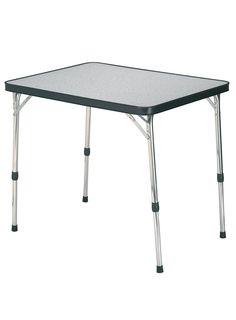 Crespo mod. Al-251.81x62x67cm  Mesa de aluminio  con patas telescópicas.  Aluminium table with telescopic legs.