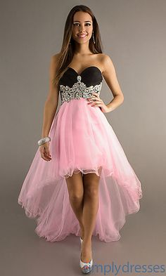 High Low Strapless Sweetheart Dress a way to make you prom date get the hots
