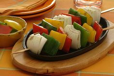 photo: Grilled Multicolored Peppers and Onions Davita website has a large variety of food recipes that are safe for dialysis and diabetic patients