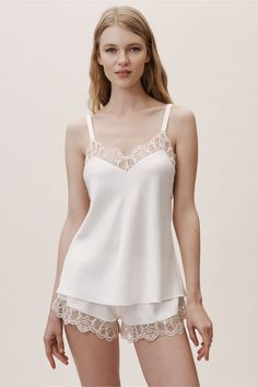Shop our vintage-inspired bridal lingerie collection. BHLDN offers a variety of wedding lingerie perfect for your wedding night and beyond! Wedding Night Lingerie, Bridal Lingerie, Women Lingerie, Bridal Nightwear, Wedding Underwear, Buy Lingerie, Lingerie Dress, Bridal Robes, Luxury Lingerie