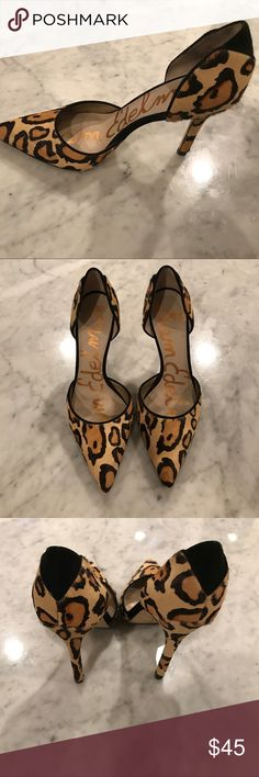 Sam Edelman leopard size 6 D'Orsay 4 inch heel Beautiful leopard D'Orsay heel.  Lightly worn, size 6.  Look amazing with everything - a great fun neutral! Sam Edelman Shoes Heels