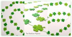 3m Green 4 Leaf Clover Paper Garland by The Rainbow Paperie
