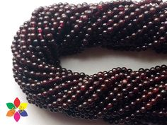 50% off on AAA Quality Garnet Natural 8 mm Smooth Round beads Strand length 13.5 inches by colorvilla on Etsy
