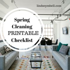 Spring Cleaning #Printable Checklist