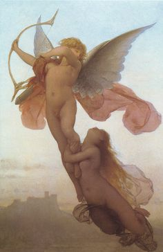 "thedailyunique:  Eugène Médard (French, 1847-1887), ""L'Amour et Psyche"" by sofi01 on Flickr."