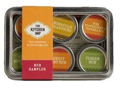 Rub Organic Spice Sampler Gift Set - http://mygourmetgifts.com/rub-organic-spice-sampler-gift-set/