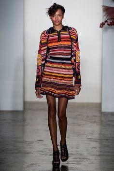 Adam Selman at New York Fashion Week Spring 2017 - Crochet Dress Cardigan