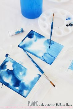 the way color spreads in the water is my most favorite thing Click on tutorials for ideas