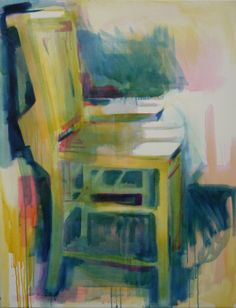Coloured Chairs #15 oil on canvas 71x92cm