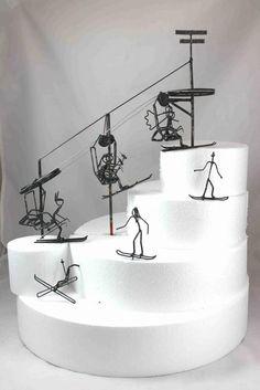Ski Lift Wedding Cake Topper From Darylsrockandwireworks