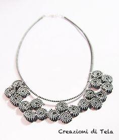 kimoa blog, creazioni di tela - collane fatte con le cerniere. zipper necklace