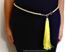 DIY Pucci Neon Chain Belt DIY Women Fashion DIY Crafts