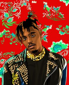 Juice Wrld Greeting Card by Olaforshow - Set of 3 Folded Cards x Rapper Wallpaper Iphone, Rap Wallpaper, Dope Cartoons, Dope Cartoon Art, Ariana Grande Anime, Juice Rapper, Smoke Painting, Kobe Bryant Pictures, Best Gaming Wallpapers