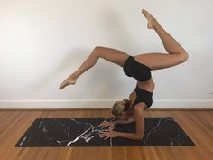 """The luxuriously soft Black Marble Yoga Mat has a suede-like top surface and natural rubber backing. Revolutionary grip technology designed to grip the more you sweat. Long-lasting and highly durable Material: 99% natural (biodegradable) rubber, 1% polyester Size: 72"""" x 24"""" x 3mm Care Instructions: Hand/Machine wash on cold, delicate, no spin setting. Air dry; do not place in the dryer Bikram Yoga, Ashtanga Yoga, Yoga Pictures, Yoga Pics, Yoga Photos, Yoga Inspiration, Fitness Inspiration, Yoga Caliente, Cool Yoga Poses"""
