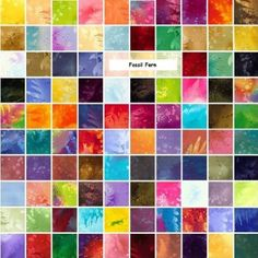 "Amazon.com: Benartex FOSSIL FERN 5"" Charm Pack Fabric Quilting Squares: Arts, Crafts & Sewing"