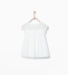 Image 1 de Robe avec empiècement de Zara