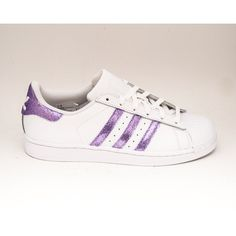Glitter Limited Edition Lavender Light Purple Adidas Superstars Ii... ($200) ❤ liked on Polyvore featuring shoes, sneakers, silver, sneakers & athletic shoes, tie sneakers, women's shoes, glitter shoes, shiny shoes, light purple shoes and silver shoes