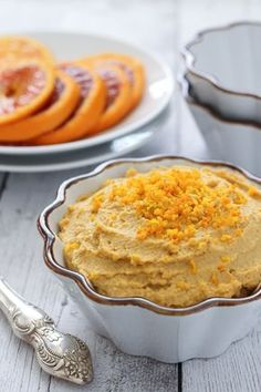 Orange Hummus Recipe. This creamy dip has a fresh orange flavor. Tastes great served with raw, steamed or roasted veggies as well as in wraps and salads.