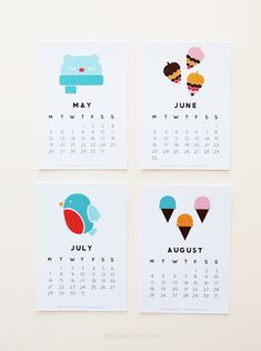 Printable Calendar by Design is Yay | Cool Mom Picks - some of which are free (like the one pictured)
