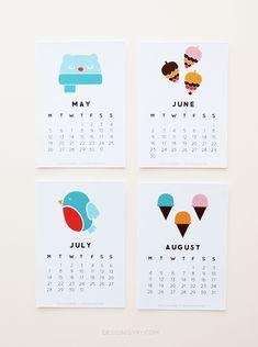 """Year of Colour"" Printable Calendar 2014"