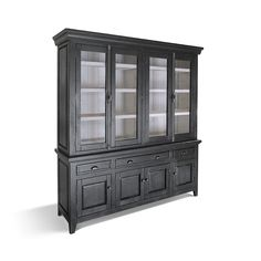 Haylee Buffet Console Haylee Hutch with Cremone Hardware - Dining Room Hutch, Dining Room Furniture, Furniture Making, Dining Rooms, Kitchen Hutch, Kitchen Paint, Outdoor Furniture, Furniture Care, Solid Wood Furniture