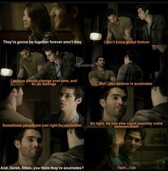 Kira and Scott talk about Sterek, who are so wrapped up in each other, they don't notice. <3