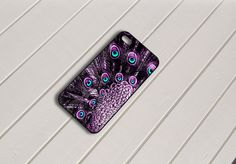 Purple Peacock Feather Art iPhone 5 Case by caseboy on Etsy, $15.79