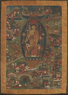 Inch Print - High quality prints (other products available) - Buddha Shakyamuni and Scenes of His Previous Lives (Jataka Tales), - Image supplied by Heritage Images - Photograph printed in the USA Buddhist Symbols, Buddhist Art, Fine Art Prints, Framed Prints, Canvas Prints, Buddha Life, Thangka Painting, Tibetan Art, Oriental