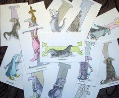 Goreyana: Dogear Wryde Postcards - Interpretive Series