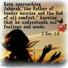 Aproach the Father Jehovah in prayer... He has the job of sorting all things out and making ALL things new, again.