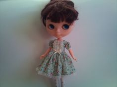 Floral dress for Blythe by RainbowDaisies on Etsy