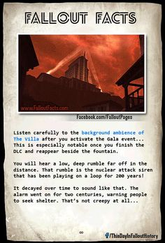 Fallout Facts Damn that is kinda freaky and chilling Fallout Lore, Fallout Facts, Fallout Fan Art, Fallout Funny, Fallout 3 New Vegas, Vault Dweller, Bethesda Games, Post Apocalypse, Elder Scrolls