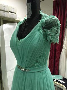 Particolare del vestito Rosa Clarà