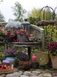 Deko dekoration and garten on pinterest for Deko bank garten