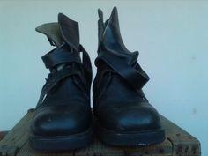 Scarpe da uomo Akethon, taglia 44, di colore nero, vera pelle