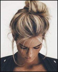 Die besten 25 Blonde strähnen Ideen auf Pinterest | Blonde haare ... | Einfache Frisuren