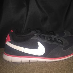 Nike running shoes in good condition, just faded a bit :) Nike Shoes Athletic Shoes