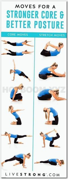 Easy yoga poses to strengthen your core and improve your posture. They'll st… Easy yoga poses to strengthen your core and improve your posture. They'll strengthen and stretch your abs and back to help relieve back pain. Yoga Fitness, Fitness Diet, Enjoy Fitness, Yoga Beginners, Core Exercises For Beginners, Beginner Yoga, Exercises To Strengthen Core, Beginner Core Workout, Exercise For Beginners At Home