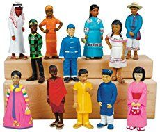 Great multicultural toys collection for Toddlers and Pre-schoolers. Children will learn about diversity, color, and clothing of different cultures. Great resource for dramatic play centre. Multicultural Activities, Activities For Kids, Multicultural Classroom, Preschool Ideas, Block Play, Lakeshore Learning, Dramatic Play Centers, Cool Gifts For Kids, Kids Around The World