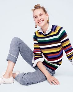 Do you speak J.Crew? Stripe-ify. Definition: to add them, every which way, with abandon. Maybe even…in color.