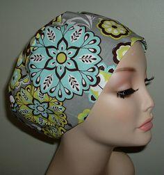 Kaleidoscope European scrub chemo hat OR Surgical Nurse MD CRNA on Etsy, $9.75