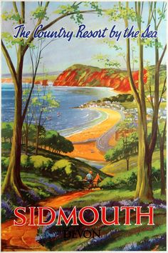 Consider Jet Skis For Fun During The Summer Fossil Hunting, British Travel, Jurassic Coast, Devon England, Railway Posters, Original Vintage, Seaside Towns, Sale Poster, Historical Romance