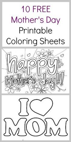 Free Mother's day coloring pages - Mothers Day coloring sheets Mom's love homemade art work. Here are 10 free Mother's Day Coloring Sheets - Coupon Closet