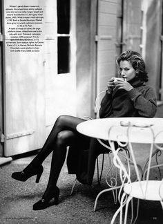 Light and Shade I Vogue UK I October 1992 I Model: Karen Mulder I Photographer: Mikael Jansson I Editor: Jayne Pickering.