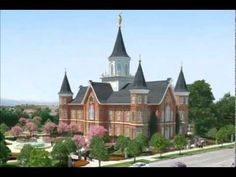 The Provo Tabernacle rebuilt into the 2nd Provo Temple.