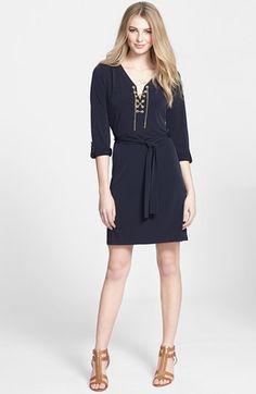 MICHAEL Michael Kors Chain Lace Jersey Dress (Regular & Petite)   Nordstrom