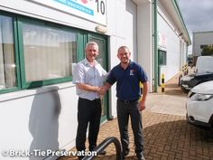 Bryan Hindle welcomes Paul Glover to Brick-Tie Preservation's team