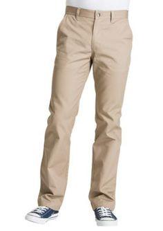 Lee Khaki Straight Leg College Pants