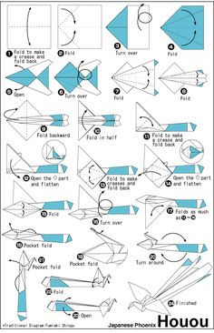 Origami Instructions: Houou